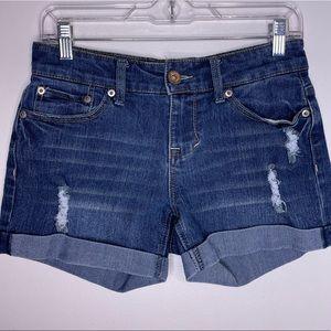 DOLLHOUSE Boyfriend Destructed Distressed Shorts